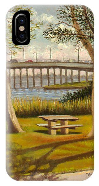 A View Of Crossbay Bridge IPhone Case