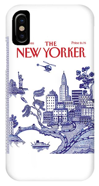 Helicopter iPhone X Case - A View Of New York City by Pamela Paparone