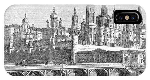A View Of The Kremlin From The River Phone Case by Mary Evans Picture Library