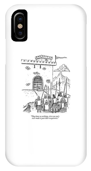 A Viking Army Stands Before A Castle Gate Where IPhone Case