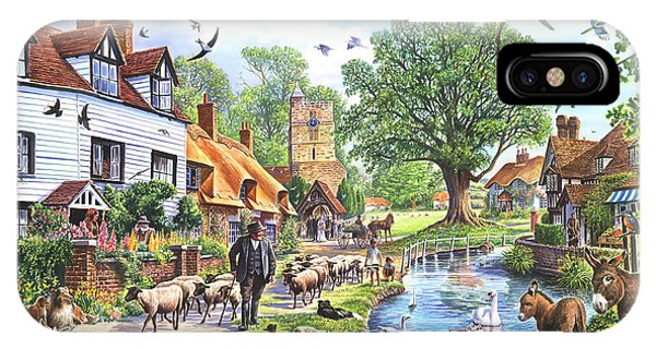 English Village iPhone Case - A Village In Spring by MGL Meiklejohn Graphics Licensing