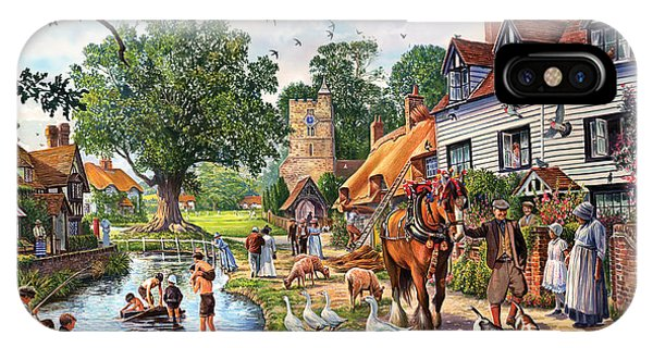 English Countryside iPhone Case - A Village In Summer by MGL Meiklejohn Graphics Licensing
