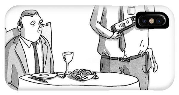 A Waiter Describes The Bottle Of Wine He Holds IPhone Case