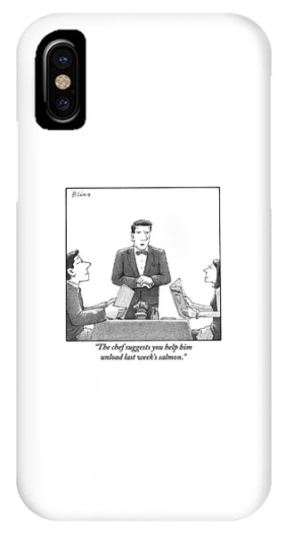 A Waiter Makes A Suggestion To A Man And Woman IPhone Case