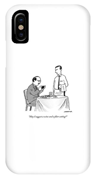 A Waiter Speaks To A Customer Who Is Taking IPhone Case