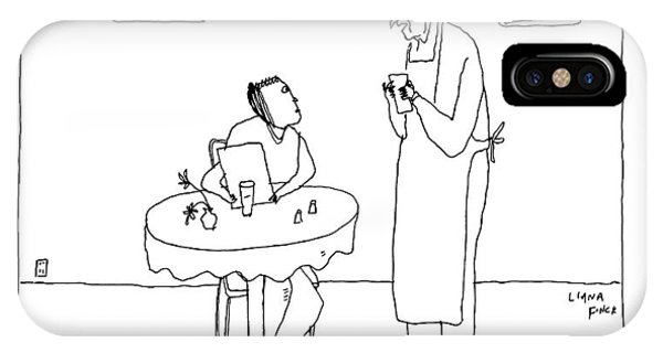A Waiter Talks To A Restaurant Patron IPhone Case