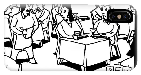 A Waitress In A Crowded Restaurant Addresses IPhone Case