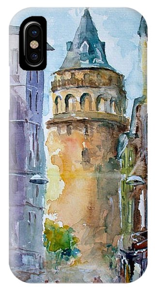 A Walk Around Galata Tower - Istanbul IPhone Case