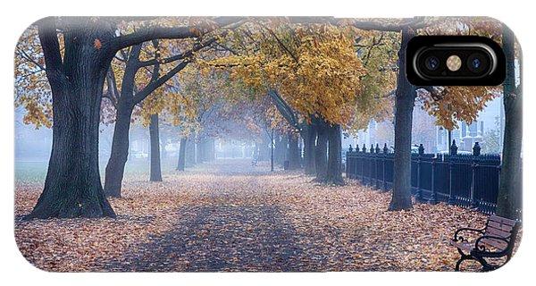 A Walk In Salem Fog IPhone Case