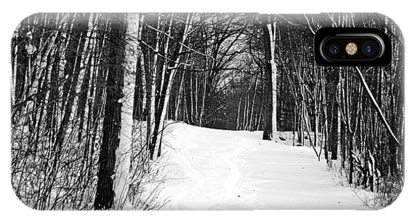 A Walk In Snow IPhone Case