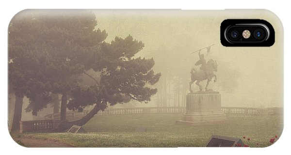 Garden iPhone X Case - A Walk In The Fog by Laurie Search