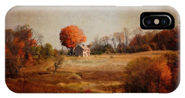 A Walk In The Meadow With Texture IPhone Case