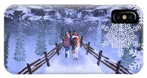 A Walk In The Snow 2 IPhone Case