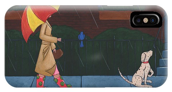 A Walk On A Rainy Day IPhone Case