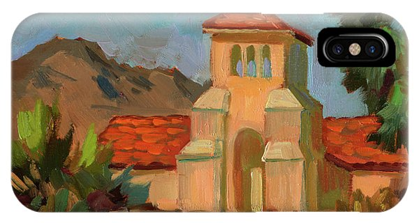 Lutheran iPhone Case - A Warm Day At Borrego Springs Lutheran by Diane McClary