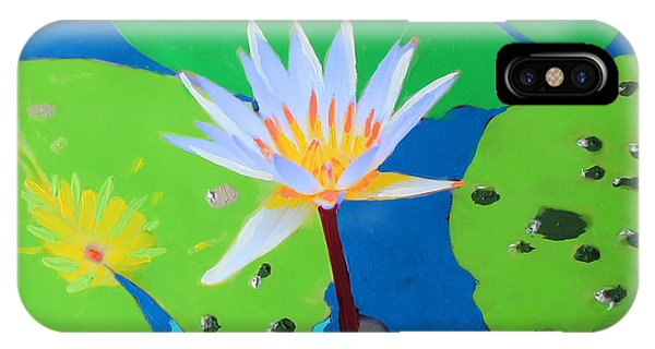 A Water Lily In Its Pad IPhone Case