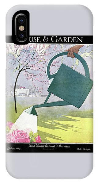 A Watering Can Above Pink Roses IPhone Case