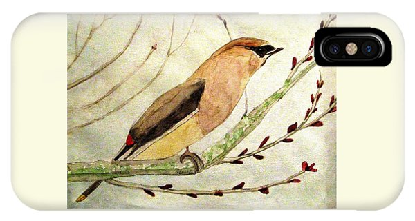 A Waxwing In The Orchard IPhone Case