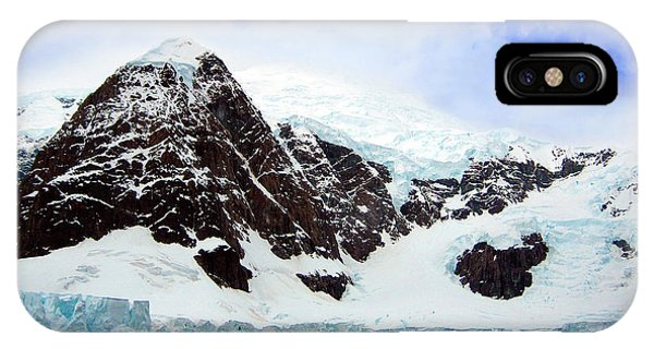 Glacier Bay iPhone Case - A Whale Fluke In Front Of Snow Covered by Miva Stock