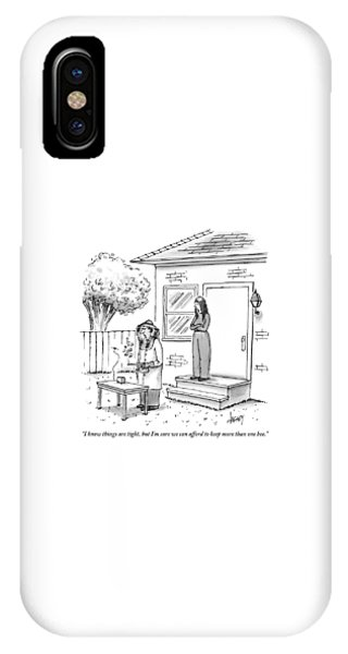 Poor iPhone Case - A Wife Talks To Her Beekeeper Husband Who by Tom Cheney