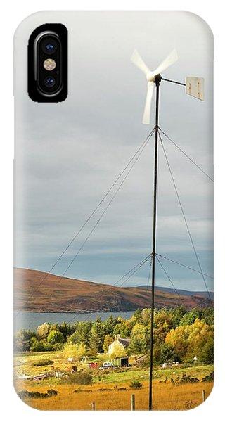 A Wind Turbine In Scoraig IPhone Case
