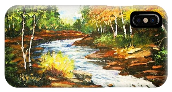 A Winding Creek In Autumn IPhone Case