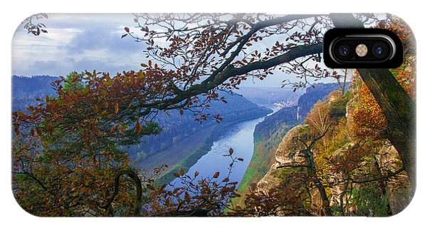 A Window To The Elbe In The Saxon Switzerland IPhone Case