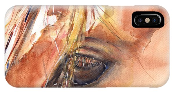 iPhone Case - Horse Eye Painting A Wink Of The Eye by Maria Reichert