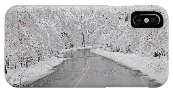 A Winter Drive In Door County. IPhone Case
