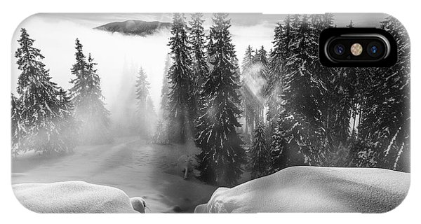Snowy iPhone Case - A Winter Tale ! by Sorin Onisor