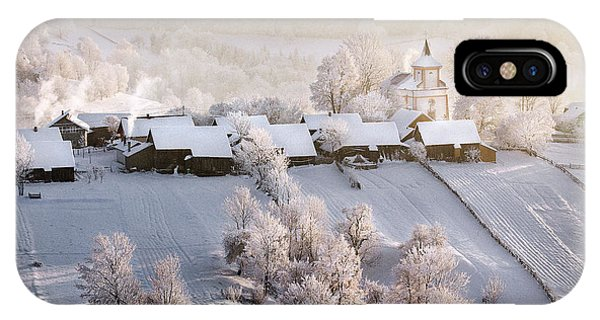 Village iPhone Case - A Winter Tale by Sorin Onisor