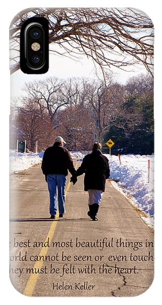 A Winter Walk/inspirational IPhone Case