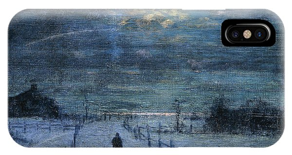 Harrison iPhone Case - A Wintry Walk by Lowell Birge Harrison