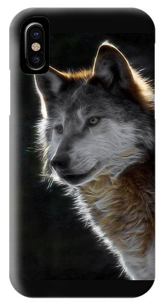 A Wolf 2 Digital Art  IPhone Case