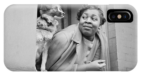 Harlem iPhone Case - A Woman And Her Dog by Gordon Parks