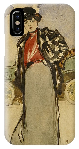 Impressionistic iPhone Case - A Woman Driver by Ramon Casas
