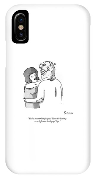 A Woman Embraces Frankenstein's Monster IPhone Case