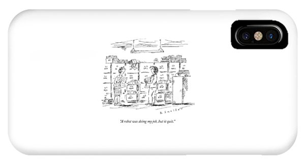 A Woman In A Room Full Of File Cabinets Speaks IPhone Case