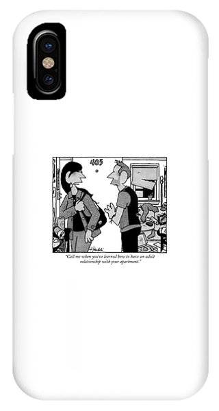 A Woman Leaves A Man's Apartment IPhone Case