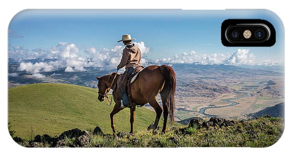 A Woman Rides The Range IPhone Case