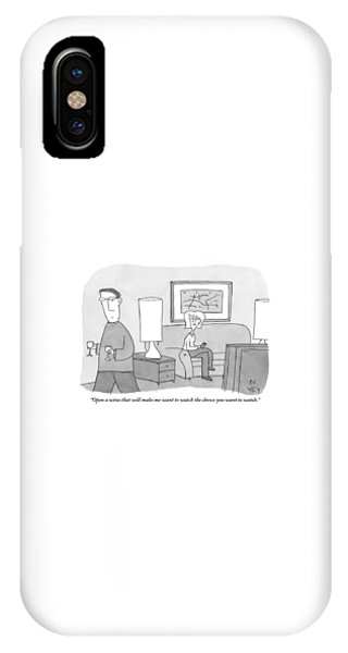 A Woman Seated On A Couch In Front IPhone Case