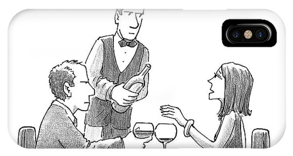 A Woman Sitting With Her Husband At A Restaurant IPhone Case