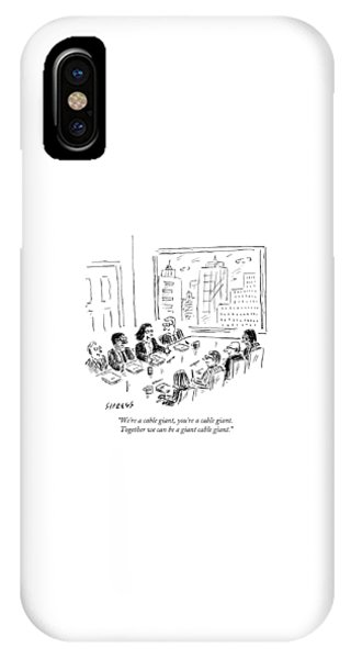 A Woman Speaks Across The Table At A Full Board IPhone Case