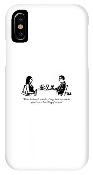 A Woman Talks To A Man While They Are Eating IPhone Case
