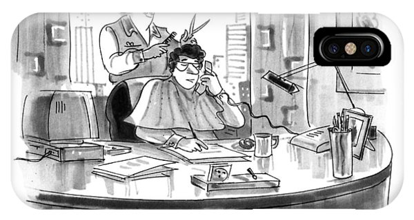 A Working Haircut.  And You? IPhone Case