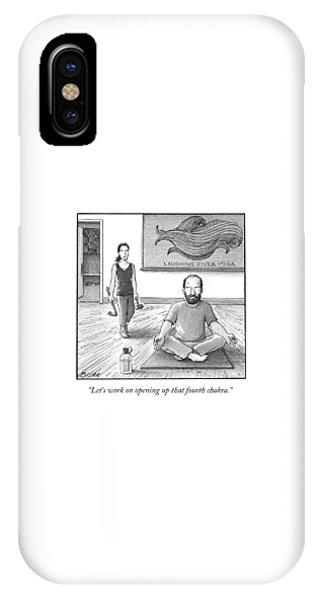 A Yoga Teacher Carrying A Crow Bar And A Mallet IPhone Case
