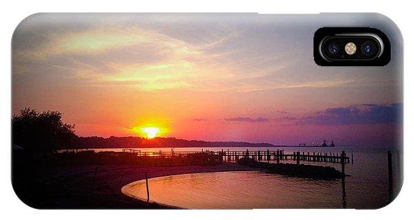 A Yorktown Sunset IPhone Case