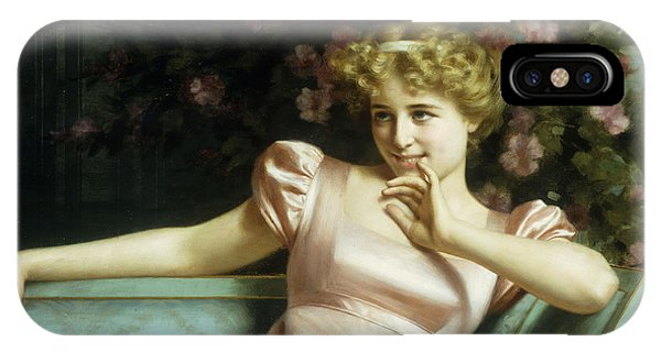 Girls In Pink iPhone Case - A Young Beauty by Vittorio Reggianini