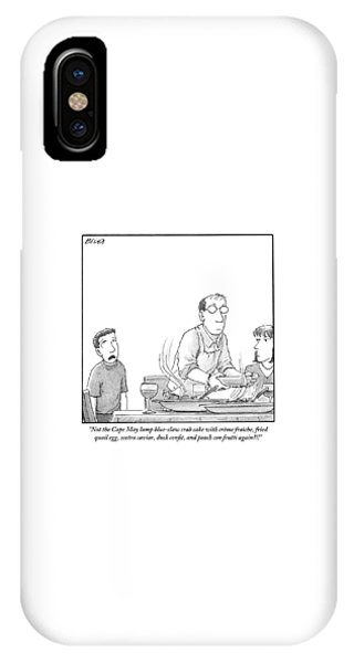 A Young Boy Complains About What's For Dinner IPhone Case
