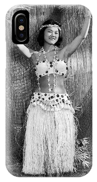 Hawaii iPhone Case - A Young Hawaiian Hula Woman by Underwood Archives